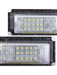 2 x branco 18 luzes da placa de licença número de lâmpada LED lâmpada para bmw mini cooper r50 r53