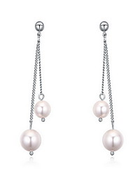 Stud Earrings Pearl Pearl Alloy Natural Fashion Jewelry White Jewelry Daily 1 pair