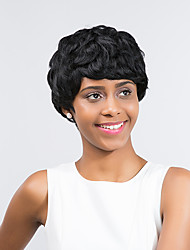 Beautiful    Natural  Black Short Curly Hair  Synthetic Wig