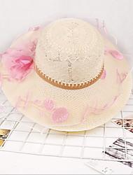 Summer Beach Cap Flower Lace Sunscreen Travel Sun Hat Ladies Straw