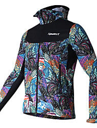 SPAKCT Cycling Jacket Men's Long Sleeve Bike Jersey Quick Dry Windproof 100% Polyester Floral / Botanical Fall/Autumn Winter Cycling/Bike