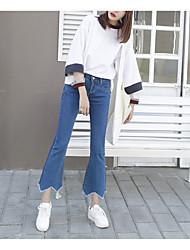 2017 molla nuovo segno irregolare dei jeans orlo femminile era sottile micro pantaloni altoparlanti collant marea