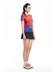 Men's Short Sleeve Running Clothing Sets/Suits Breathable Comfortable Summer Sports Wear Badminton Polyester Solid