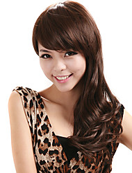 Deep Wave Wig Women Cosplay Costume Hairstyle Brown Synthetic FiberWig With Wig Cap