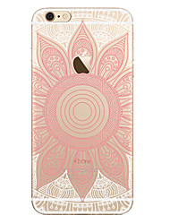 Para Transparente Diseños Funda Cubierta Trasera Funda Mandala Suave TPU para AppleiPhone 7 Plus iPhone 7 iPhone 6s Plus iPhone 6 Plus