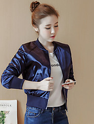 2017 Sign spot 8655 new bf wind jacket ladies tide baseball uniform shiny silk shorts female temperament