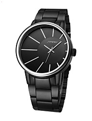 Men's Fashion Watch Quartz Alloy Band Black