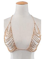 Women's Body Jewelry Body Chain Fashion Rhinestone Geometric Jewelry For Special Occasion Halloween Casual Valentine 1pc