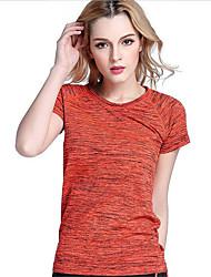Femme Tee-shirt de Course Manches Courtes Séchage rapide Respirable Tee-shirt Hauts/Top pour Yoga Exercice & Fitness Courses Basket-ball