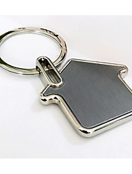 Key Chain House Key Chain Silver Metal