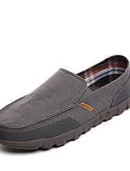 Herren-Sneaker-Büro Lässig-Denim Jeans-Flacher Absatz-Komfort-Beige Grau Blau