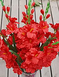 1 Ramo Plástico Orquideas Flor de Mesa Flores artificiais 80