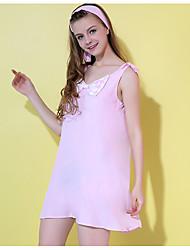 Damen Babydoll & slips Nachtwäsche,Spitze einfarbig-Baumwolle Mittelmäßig Damen