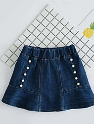 Girls' Casual/Daily Solid Jeans-Cotton Summer