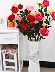 1 Une succursale Plastique Roses Arbre de Noël Fleurs artificielles 20*20*120