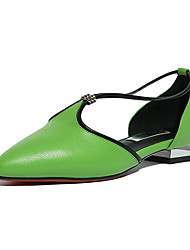 Women's Sandals Summer Club Shoes Cowhide Office & Career Party & Evening Dress Low Heel