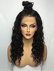 Hot Long Long Curly Wigs Hair Brazilian Virgin Human Hair Glueless Lace Front Wigs With Baby For Women