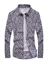 Men's Fashion Casual Large Size Long-Sleeved Shirt