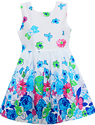 Girls Dress Flower Butterfly Cotton Dresses Summer Party Birthday Princess Kids Clothes
