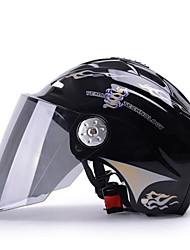 YEMA 310 Motorcycle Helmet Summer ABS  Anti-UV Half Helmet For 54-61cm with Black Tea Lens