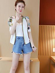 2017 summer new national wind embroidery fashion sun protection clothing baseball clothing female short jacket sun shirt tide