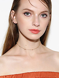 Women's Choker Necklaces Crystal Single Strand Crystal Acrylic Copper Basic Euramerican Fashion Personalized Simple Style Jewelry For