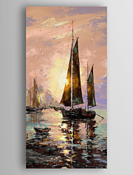 Hand-Painted Abstract Landscape Vertical,Modern One Panel Canvas Oil Painting For Home Decoration