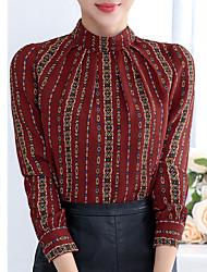 Подписать новые осенние и зимние 2016 корейских женщин шифон рубашку блузку рубашку