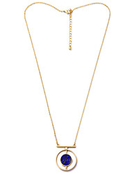 Women's Pendant Necklaces Round Chrome Unique Design Fashion Jewelry For Wedding Congratulations