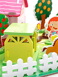 3D Fight Into The Farm Building Blocks Of Children And Children Of intellectual Intelligence Three - Dimensional Assembly Board Board Male Baby Girl