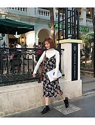 ~ Sign ~ 2017 new chiffon floral dress printed harness