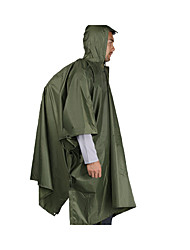 Men's Raincoat/Poncho Snowsports Waterproof Breathable Windproof Summer Camouflage Army Green