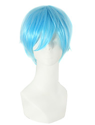 Light bule color straight hair perruques synthétiques cosplay européens