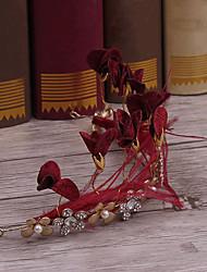 Rhinestone liga de tecido headpiece-casamento ocasião especial tiaras casuais headbands 1 peça