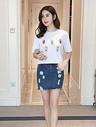 sinal verão de manga curta t-shirt do sexo feminino fã coreano selvagens de algodão grandes estaleiros soltas de manga curta estudante