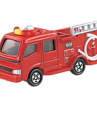 Véhicule de Pompier Véhicules à Friction Arrière Plastique Rouge