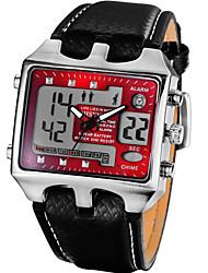 Masculino Relógio de Moda Relogio digital Quartzo Digital Couro Banda Preta Vermelho