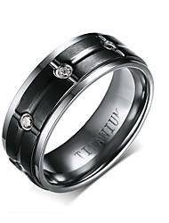 Ring Stahl Runde Form Kreis Schwarz Schmuck Alltag 1 Stück