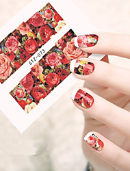 10pcs/set Hot Style Nail Beauty Beautiful Flower Nail Art Sticker Romantic Rose Design Beautiful Water Transfer Decals STZ-073