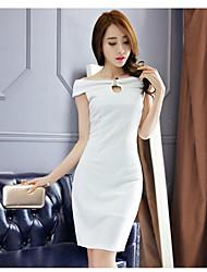 Echter Schuss im Sommer 2017 neue koreanische Serie Kragen ol slim Paket Hüft Kleid langen Abschnitt der weiblichen Kleid