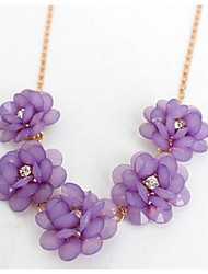 Women's Chain Necklaces Jewelry Chrome Flower Style Jewelry For Wedding Party Congratulations Engagement Gift 1pc