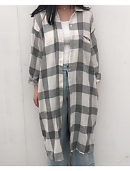 Sign Plaid Long Shirt