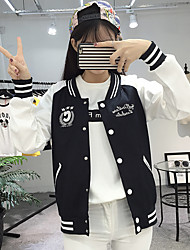 Sign Spring 2017 new Korean Institute of wind embroidery short coat female baseball clothes