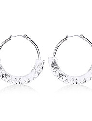 Fashion Hammered Effect Hoop Earrings for Women and Girls