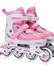 Kid's Inline Skates Adjustable Blue/Black/Blushing Pink