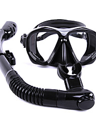 Snorkeling Packages Snorkels Diving Masks Anti-Fog Diving / Snorkeling Glass Rubber silicone-WHALE