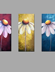 100%Handmade Oil Painting Sun Flower Wall Art 3 Piece/set Home Office Decor  with Stretched Framed Ready to Hang