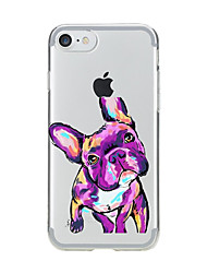 Para iPhone X iPhone 8 Carcasa Funda Transparente Diseños Cubierta Trasera Funda Perro Suave TPU para Apple iPhone X iPhone 8 Plus iPhone