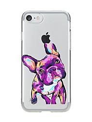 Pour Transparente Motif Coque Coque Arrière Coque Chien Flexible PUT pour AppleiPhone 7 Plus iPhone 7 iPhone 6s Plus iPhone 6 Plus iPhone