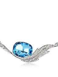 Femme Pendentif de collier Cristal Ailes / Plume Original Mode Bijoux Pour Fiançailles Quotidien